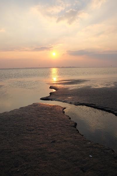 coucher du soleil au Crotoy